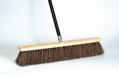 "2x 18/"" Industrial Broom,Yard Broom Brush,Wide Stiff Broom,Heavy Duty Broom NEW"